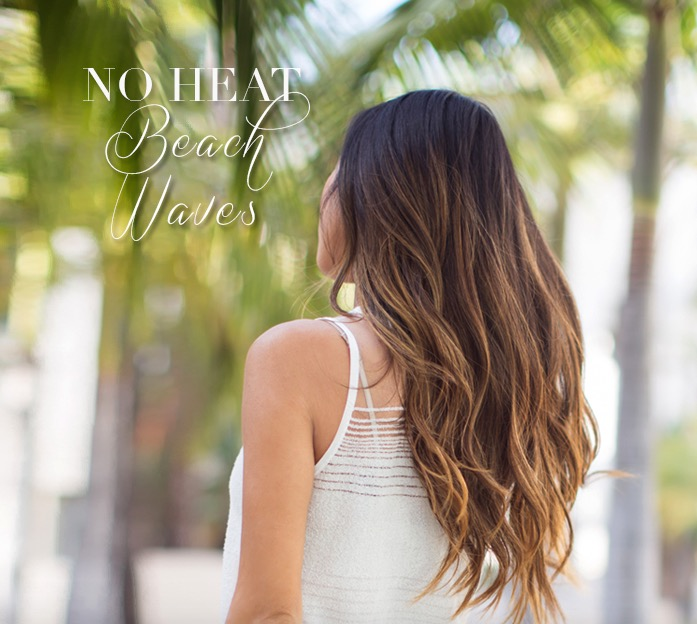 To add a little wave and texture to your hair without the damaging